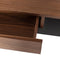 NOORI WALNUT DESK TABLE TITANIUM LEG