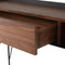 NOORI WALNUT CONSOLE TABLE TITANIUM LEGS