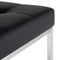 CHI BLACK COUNTER STOOL SILVER FRAME