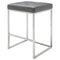 CHI GREY COUNTER STOOL SILVER FRAME