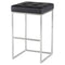 CHI BLACK BAR STOOL SILVER FRAME