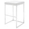 CHI WHITE BAR STOOL SILVER FRAME