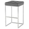 CHI GREY BAR STOOL SILVER FRAME