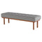 ARLO LIGHT GREY OCCASIONAL BENCH