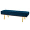 RIKARD MIDNIGHT BLUE OCCASIONAL BENCH