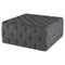 TUFTY SHALE GREY OTTOMAN SOFA BLACK LEGS
