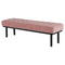 ARLO DUSTY ROSE OCCASIONAL BENCH