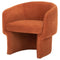 CLEMENTINE TERRA COTTA SINGLE SEAT SOFA BLACK LEGS
