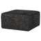 SANTINA SALT & PEPPER OTTOMAN SOFA BLACK LEGS