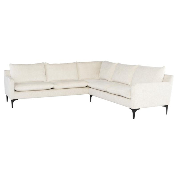 ANDERS COCONUT SECTIONAL SOFA BLACK LEGS