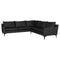 ANDERS SALT & PEPPER SECTIONAL SOFA BLACK LEGS