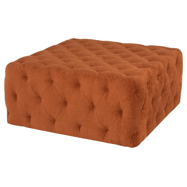 TUFTY TERRA COTTA OTTOMAN SOFA BLACK LEGS
