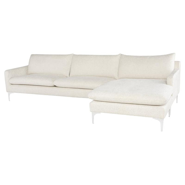 ANDERS COCONUT SECTIONAL SOFA SILVER LEGS