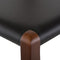 AMERI BLACK COUNTER STOOL WALNUT FRAME