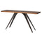 VEGA SEARED CONSOLE TABLE BLACK LEGS