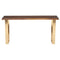 VERSAILLES SEARED CONSOLE TABLE GOLD LEGS