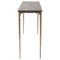 KULU SEARED CONSOLE TABLE BRONZE LEGS