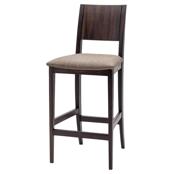 ESKA BROWN COUNTER STOOL SEARED FRAME