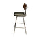 SOLI BLACK BAR STOOL SEARED BACKREST
