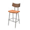 SOLI CARAMEL BAR STOOL SEARED BACKREST