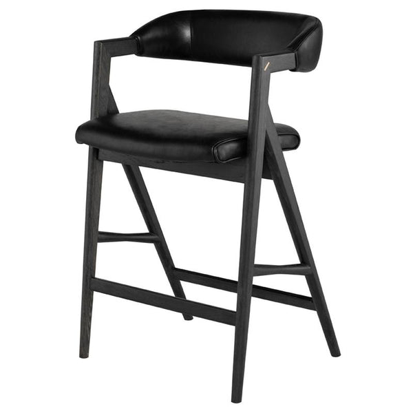 ANITA RAVEN COUNTER STOOL EBONIZED FRAME