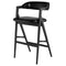 ANITA RAVEN BAR STOOL EBONIZED FRAME