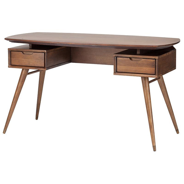 CAREL WALNUT DESK TABLE WALNUT BASE