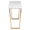 CATRINE WHITE CONSOLE TABLE GOLD LEGS