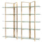 ELTON GOLD DISPLAY SHELVING GLASS SHELVES