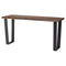 VERSAILLES SEARED CONSOLE TABLE BLACK LEGS