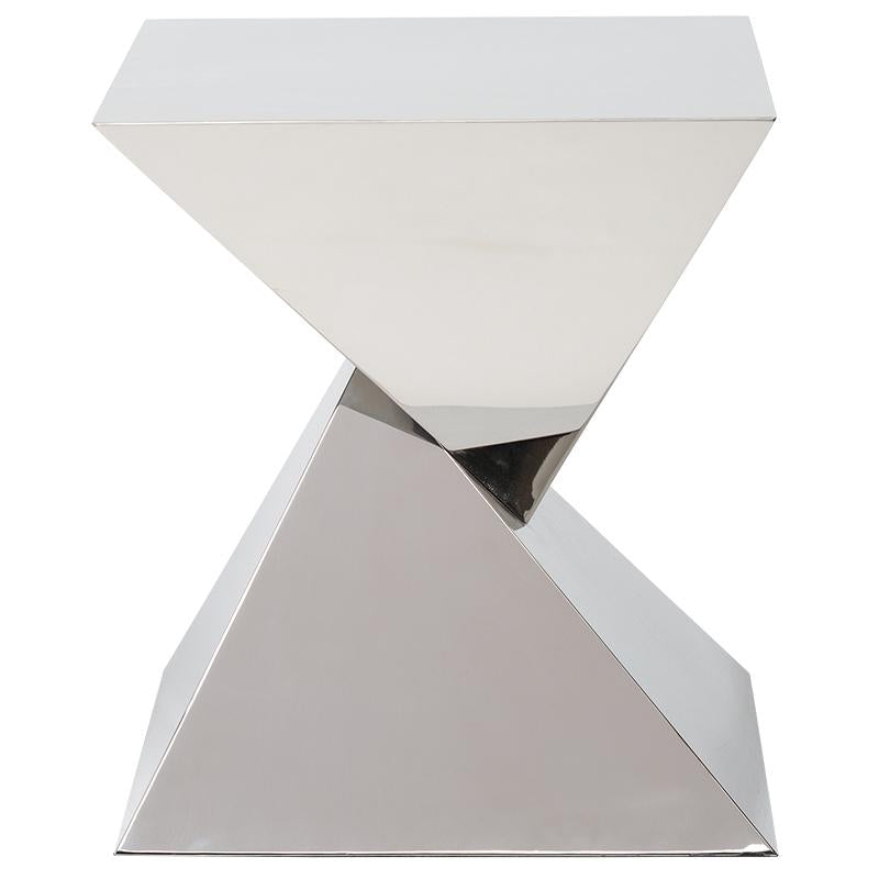 GIZA STEEL SILVER SIDE TABLE
