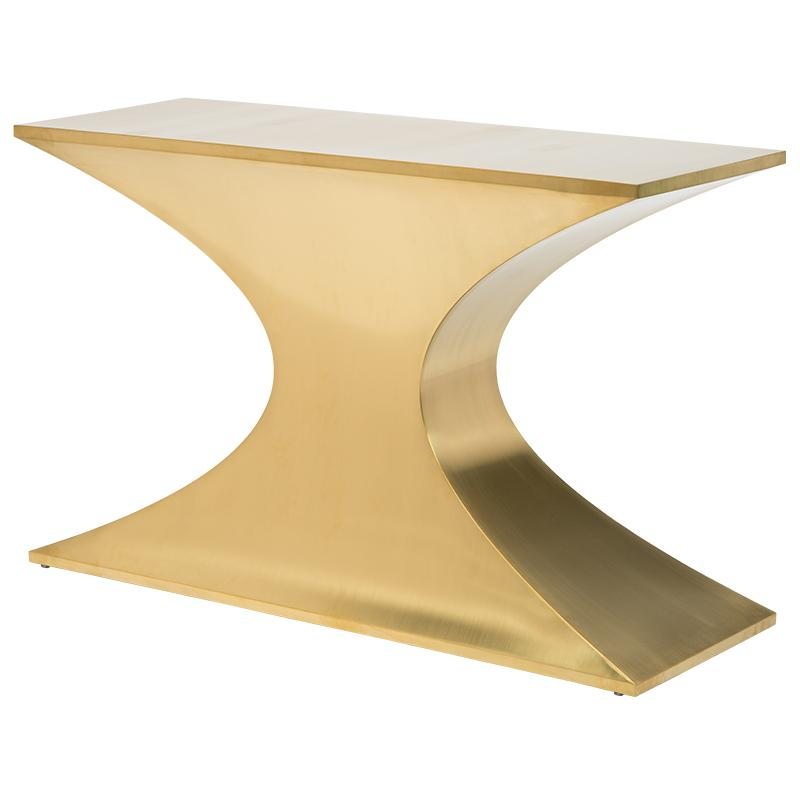 PRAETORIAN GOLD CONSOLE TABLE