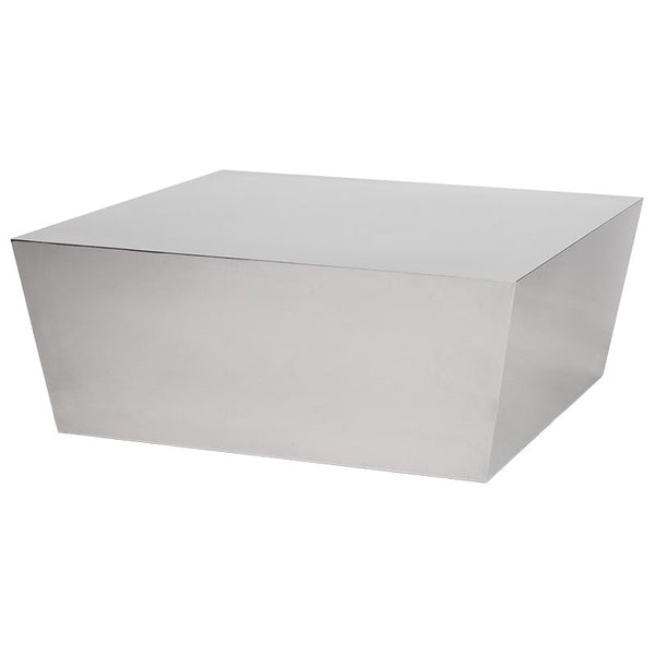 CUBE SILVER COFFEE TABLE