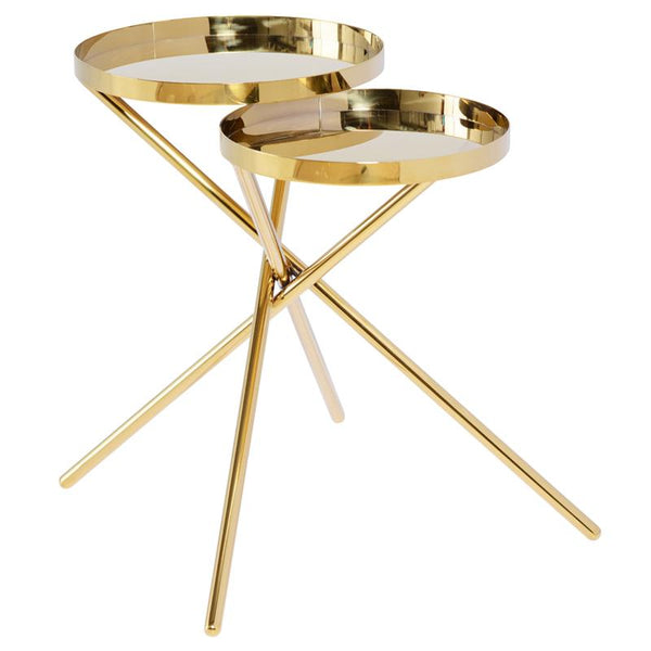 OLIVIA GOLD SIDE TABLE