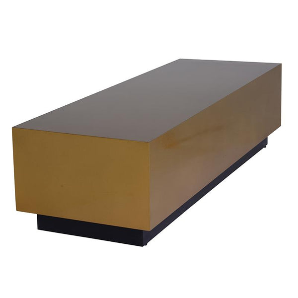 ASHER GOLD COFFEE TABLE BLACK BASE