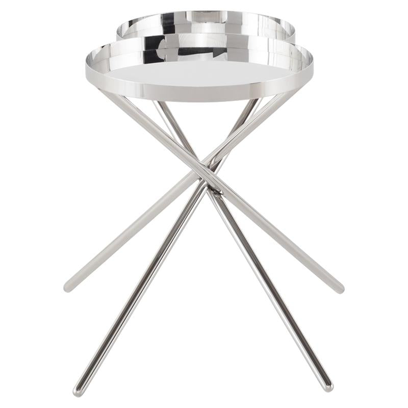 OLIVIA SILVER SIDE TABLE