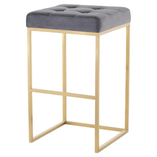 CHI TARNISHED SILVER BAR STOOL GOLD FRAME