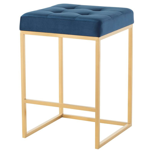 CHI PEACOCK COUNTER STOOL GOLD FRAME