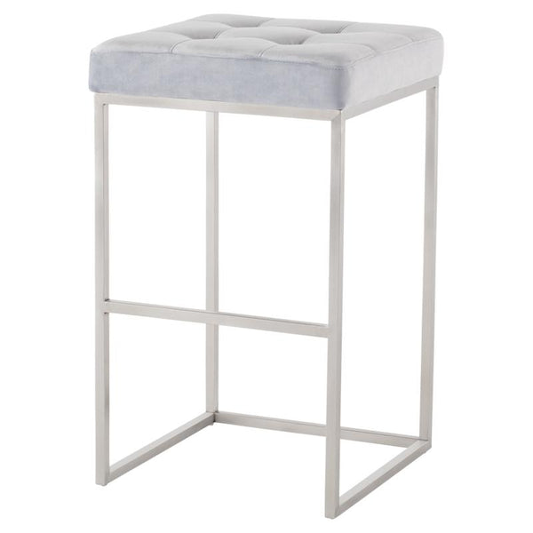 CHI ICE BLUE BAR STOOL SILVER FRAME