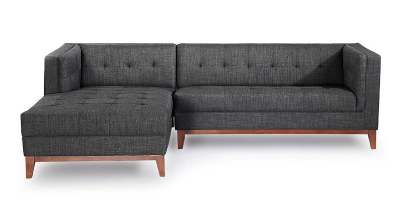 Harrison Chaise Sectional-Left Face, Midnight Oil
