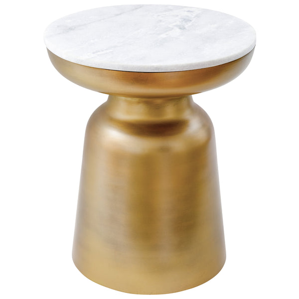 Signy Drum Accent Table with Marble Top