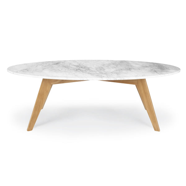 Riley Marble Oval Coffee Table