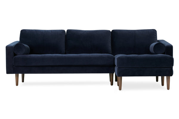 Napa Velvet Right Sectional Sofa