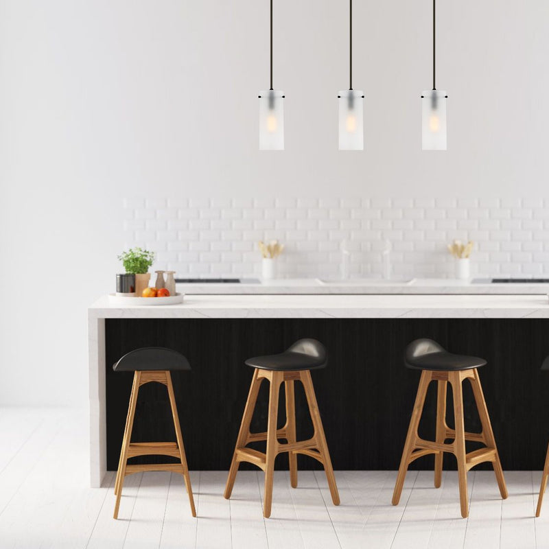 Montreal Frosted Glass Pendant