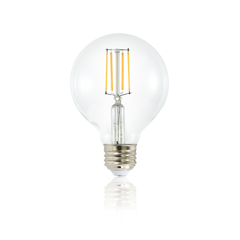 Set of 4 - Firenze G25 Shape LED Filament Light Bulb