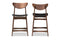 Latina Scandinavian Style Black 24-Inches Counter Stool (Set of 2)
