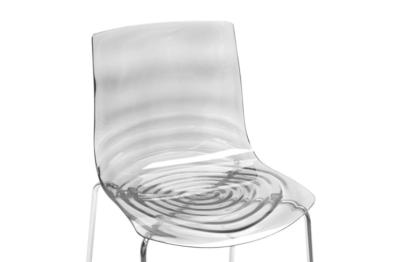 Marisse Clear Plastic Modern Dining Chair (Set of 2)