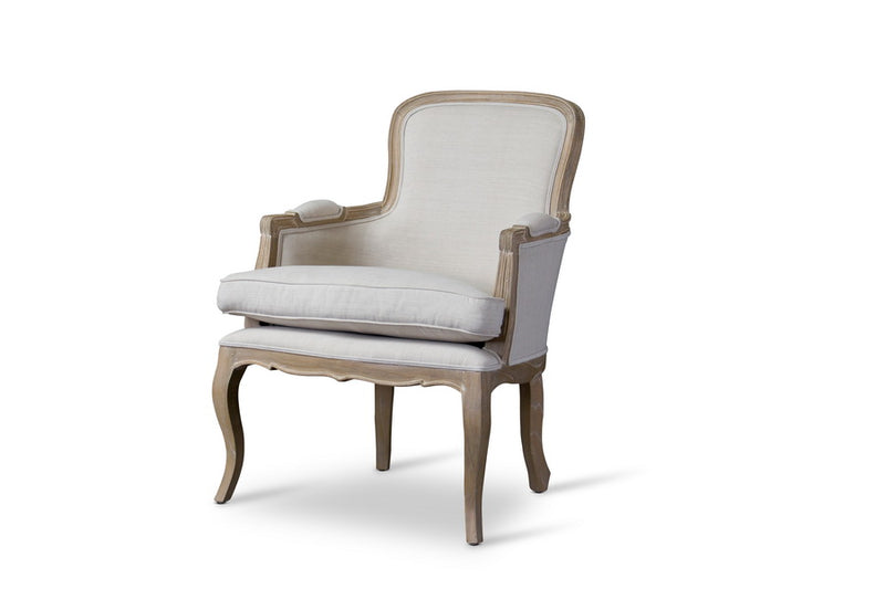 Napoleon Traditional French Accent Chair-Oak