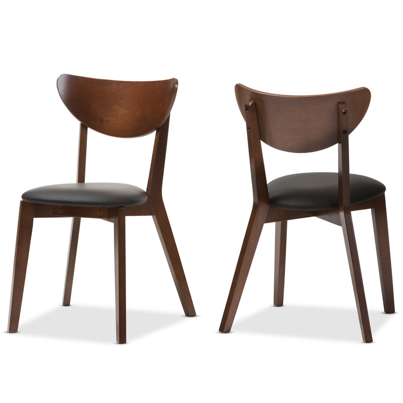 Sumner Black and Brown Dining Chair