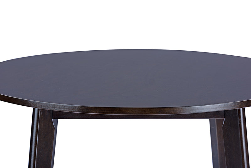 Debbie Dark Brown Round Dining Table